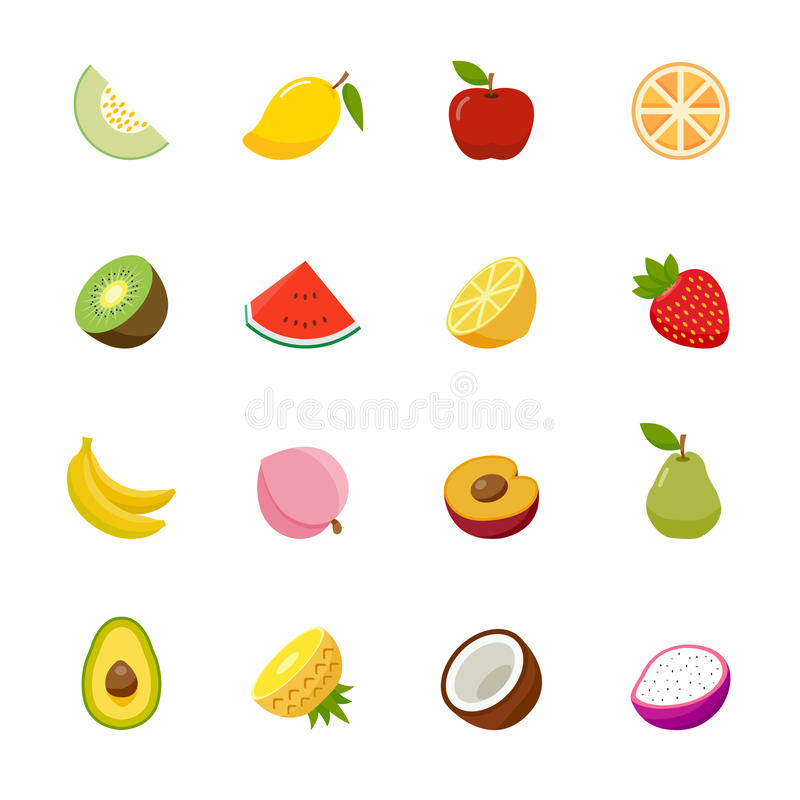 Ícone do fruto. Projeto liso das cores completas.