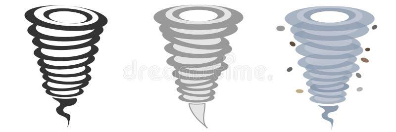 Ícone do furacão ilustração royalty free