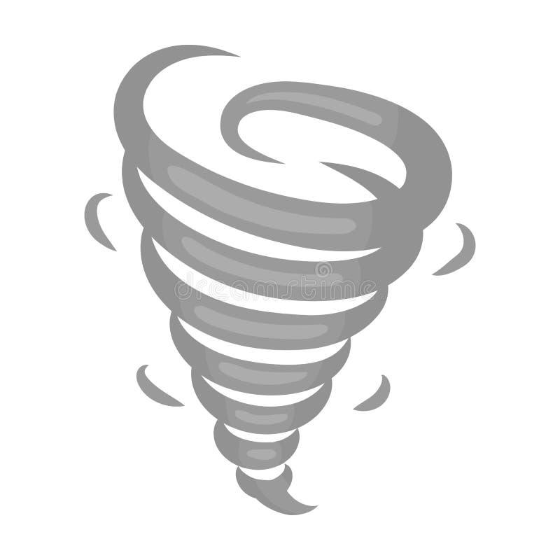 Ícone do furacão no estilo monocromático isolado no fundo branco Ilustração do vetor do estoque do símbolo de tempo ilustração stock