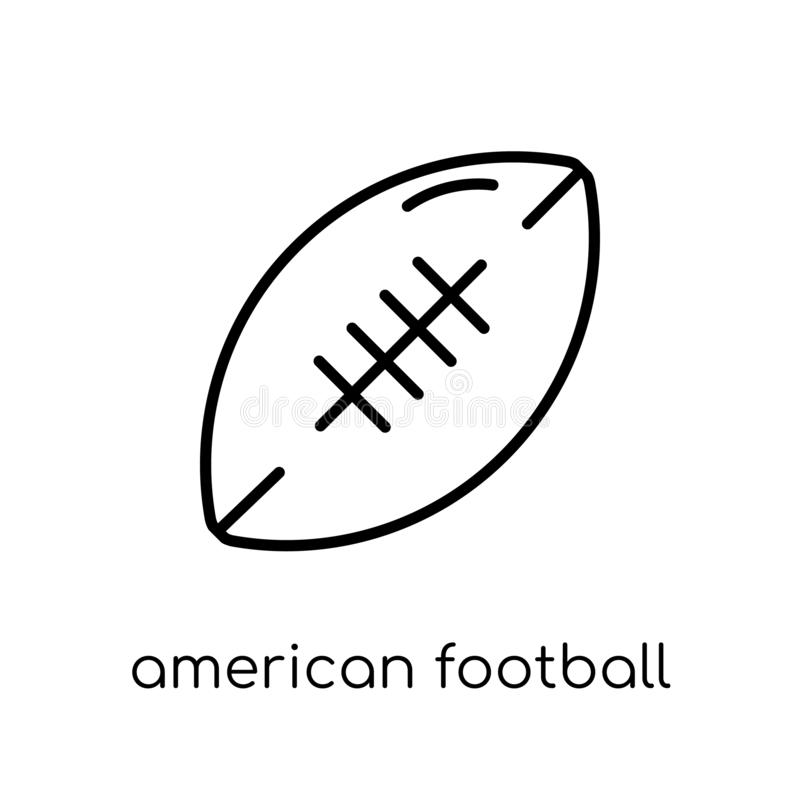 Ícone do futebol americano Vetor linear liso moderno na moda América ilustração do vetor