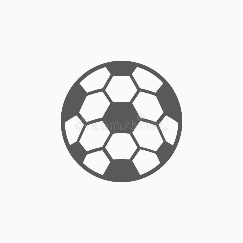 Ícone do futebol, bola, futebol, esporte ilustração stock