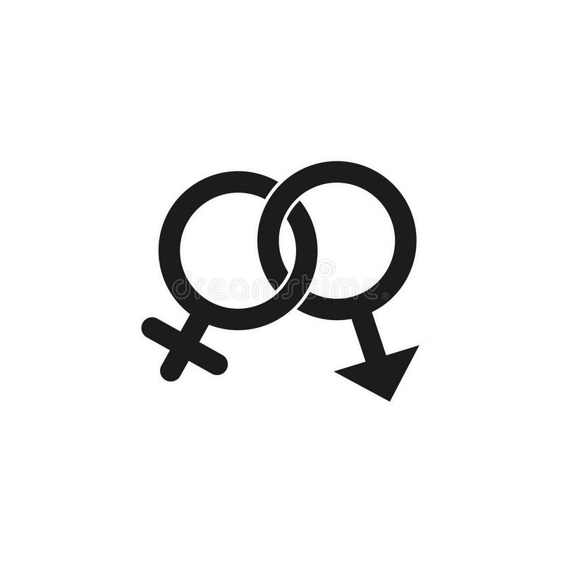 Ícone do gênero no estilo liso na moda isolado no fundo branco Símbolo para seu projeto da site, logotipo da concessão, app, UI ilustração stock