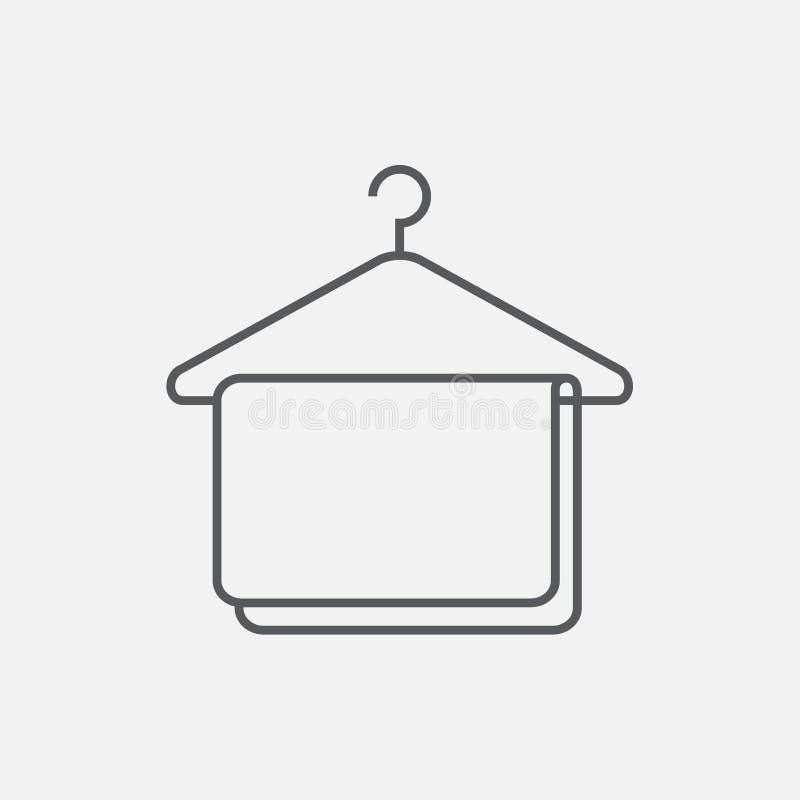 Ícone do gancho com toalha ilustração do vetor