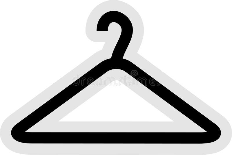 Ícone do gancho de roupa ilustração do vetor
