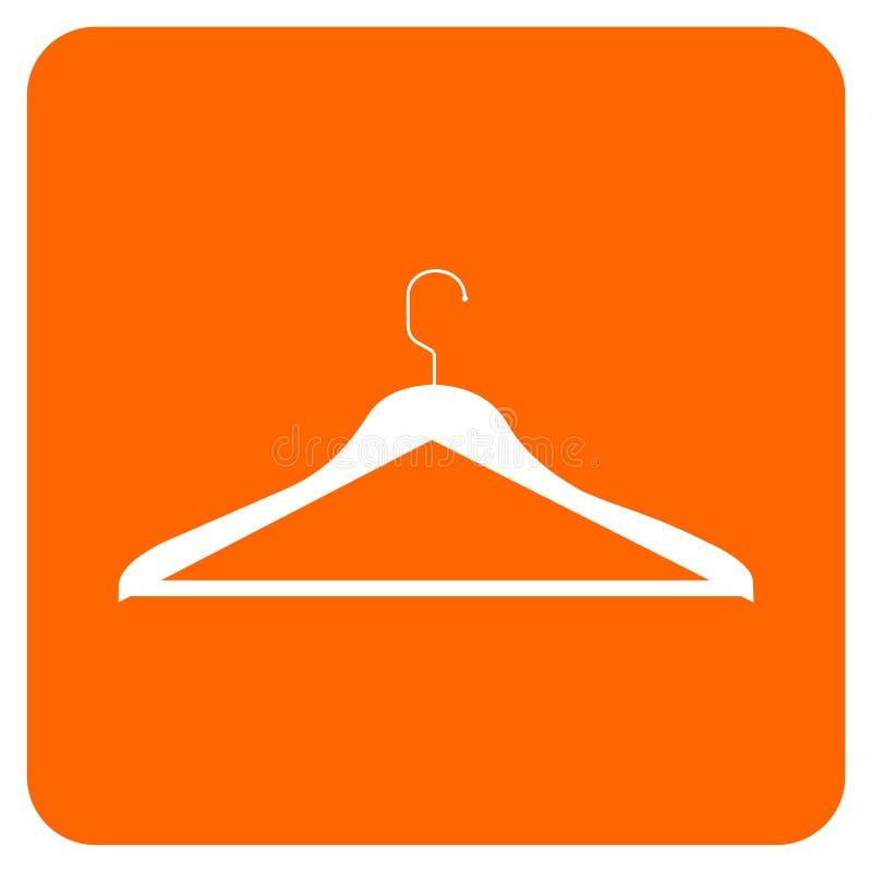 Ícone do gancho de roupa ilustração stock