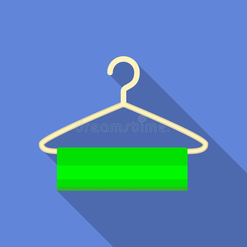 Ícone do gancho de roupa, estilo liso ilustração royalty free