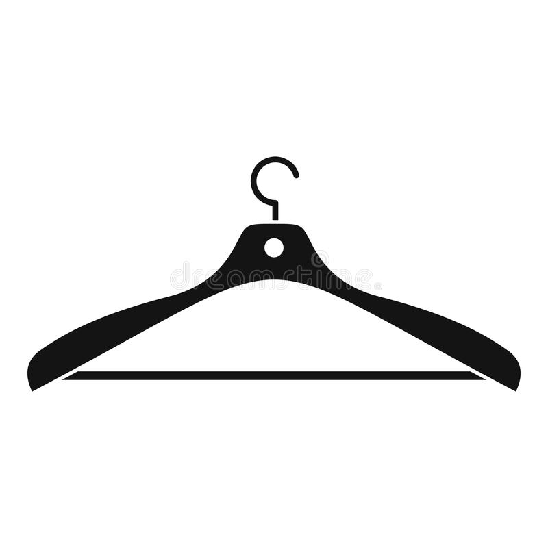 Ícone do gancho de roupa, estilo simples ilustração royalty free