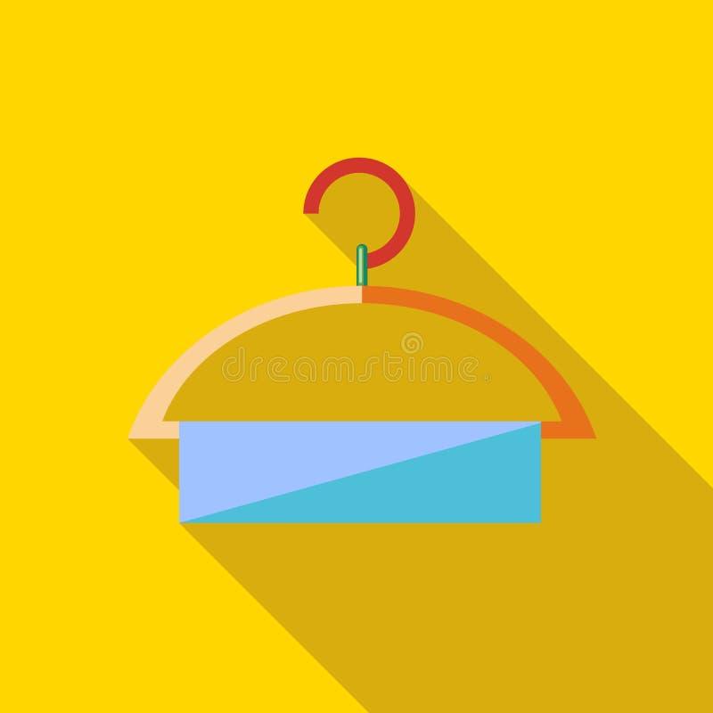 Ícone do gancho de roupa no estilo liso ilustração do vetor