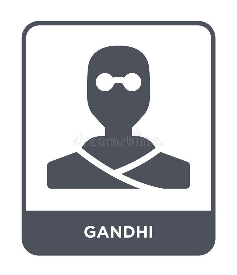 ícone do gandhi no estilo na moda do projeto ícone do gandhi isolado no fundo branco símbolo liso simples e moderno do ícone do v ilustração stock