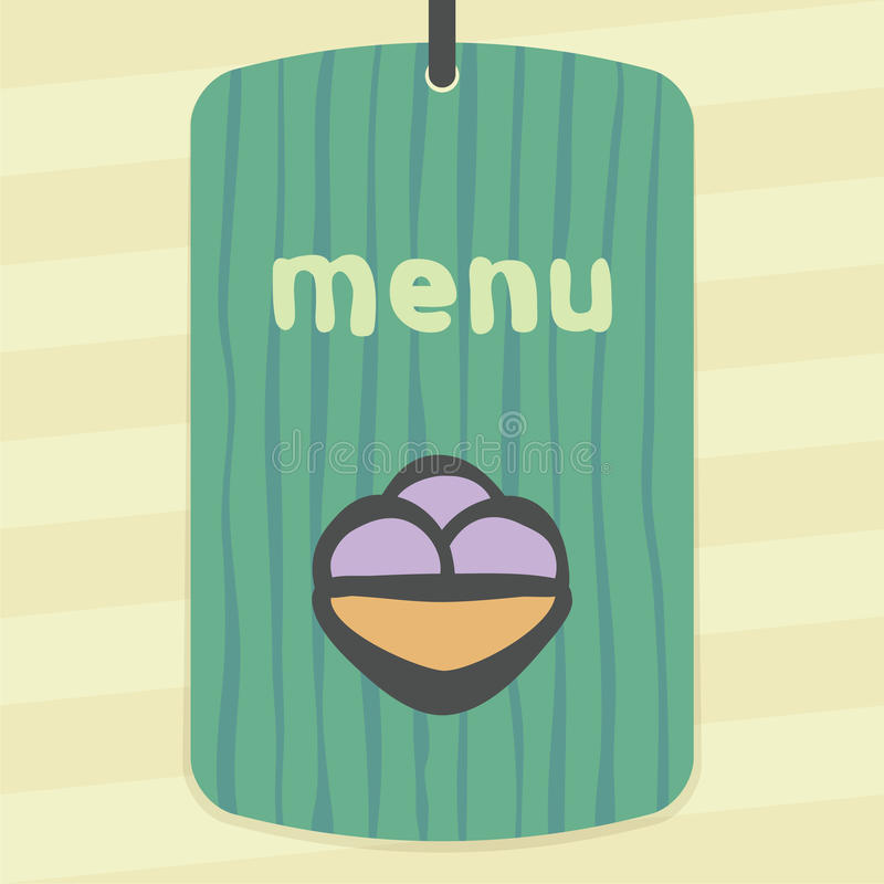 Ícone do gelado do fruto do esboço do vetor Logotipo infographic moderno e pictograma ilustração do vetor