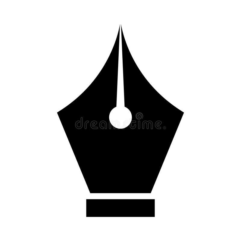 Ícone do Glifo da Caneta Isolado Gráfico Estilo no conceito de negócios e escritório do elemento simples EPS 10 glifo vetor editá ilustração royalty free