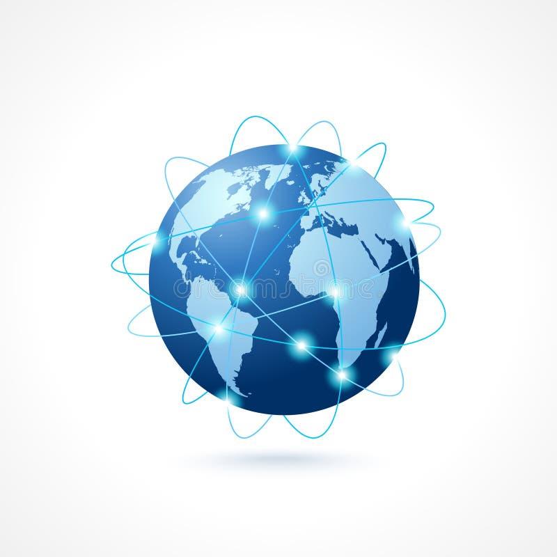 Ícone do globo da rede ilustração do vetor