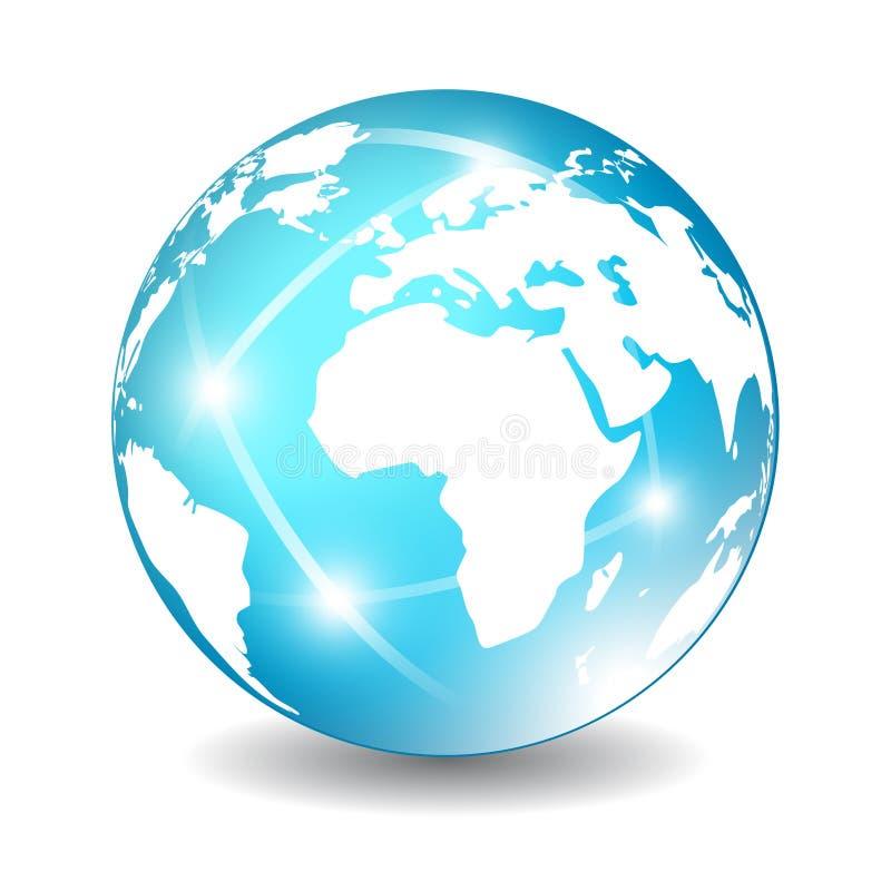 Ícone do globo da terra ilustração stock