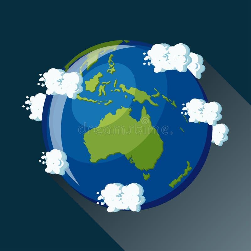 Ícone do globo de Austrália ilustração royalty free