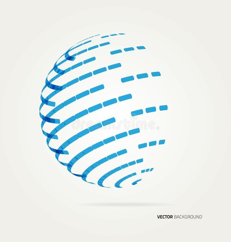 Ícone do globo do vetor ilustração stock