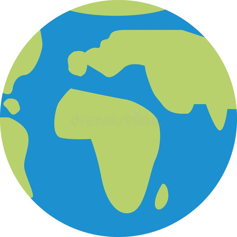 Ícone do globo do mundo ilustração do vetor