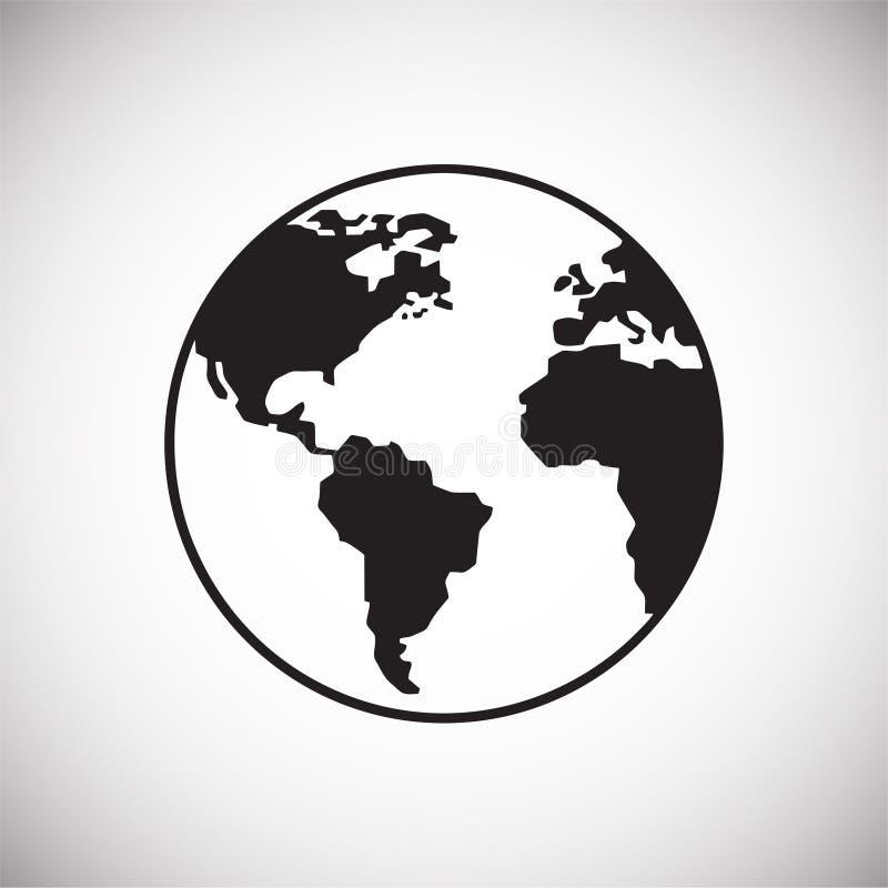 Ícone do globo no fundo branco para o gráfico e o design web, sinal simples moderno do vetor Conceito do Internet Símbolo na moda ilustração stock