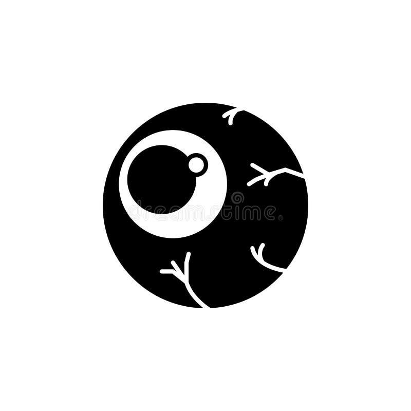 Ícone do globo ocular Elemento da ilustração dos elementos do fantasma Linha ilustração fina para o projeto do Web site e o desen ilustração stock