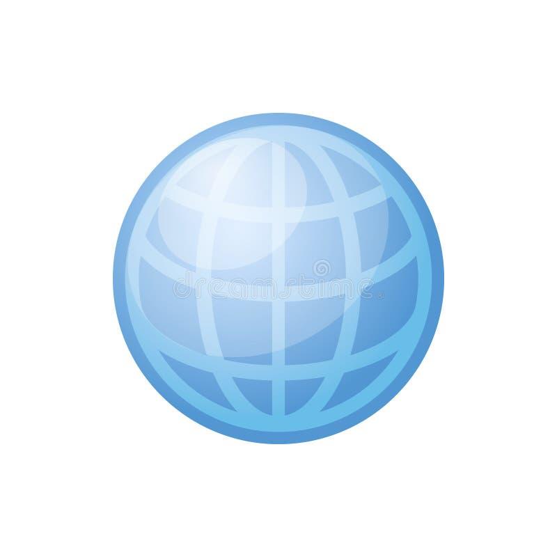 Ícone do globo Vetor ilustração stock