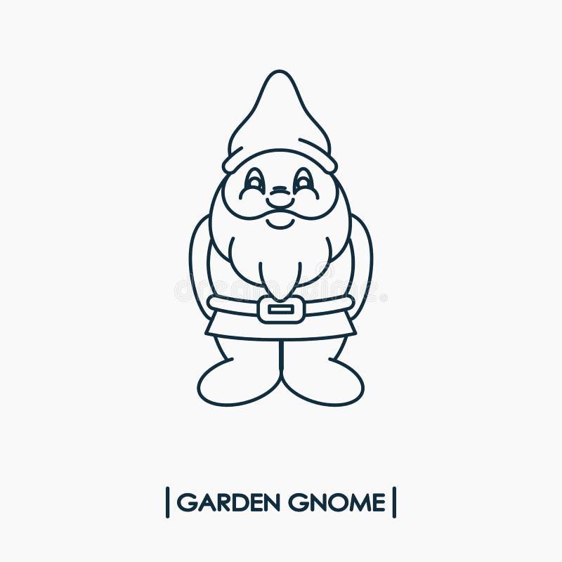 Ícone do gnomo do jardim ilustração do vetor