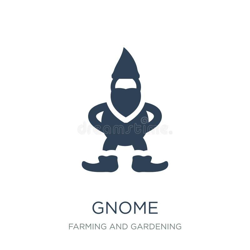 ícone do gnomo no estilo na moda do projeto ícone do gnomo isolado no fundo branco símbolo liso simples e moderno do ícone do vet ilustração do vetor