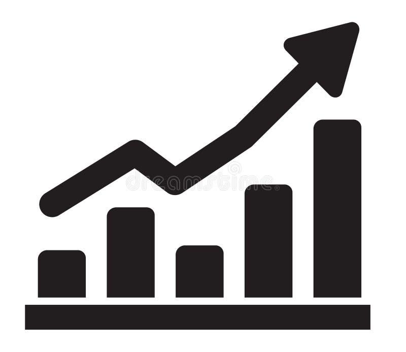Ícone do gráfico ilustração do vetor