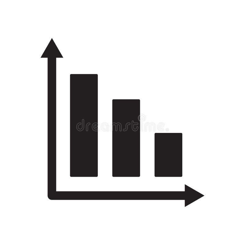 ícone do gráfico de barra  ilustração royalty free