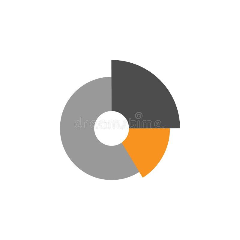 Ícone do gráfico e da porcentagem Elemento de financeiro, de diagramas e de ícone dos relatórios para o conceito móvel e os apps  ilustração do vetor