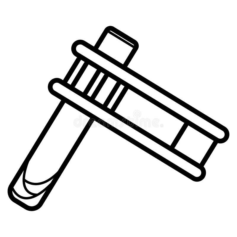 Ícone do gragger do feriado de Purim ilustração royalty free