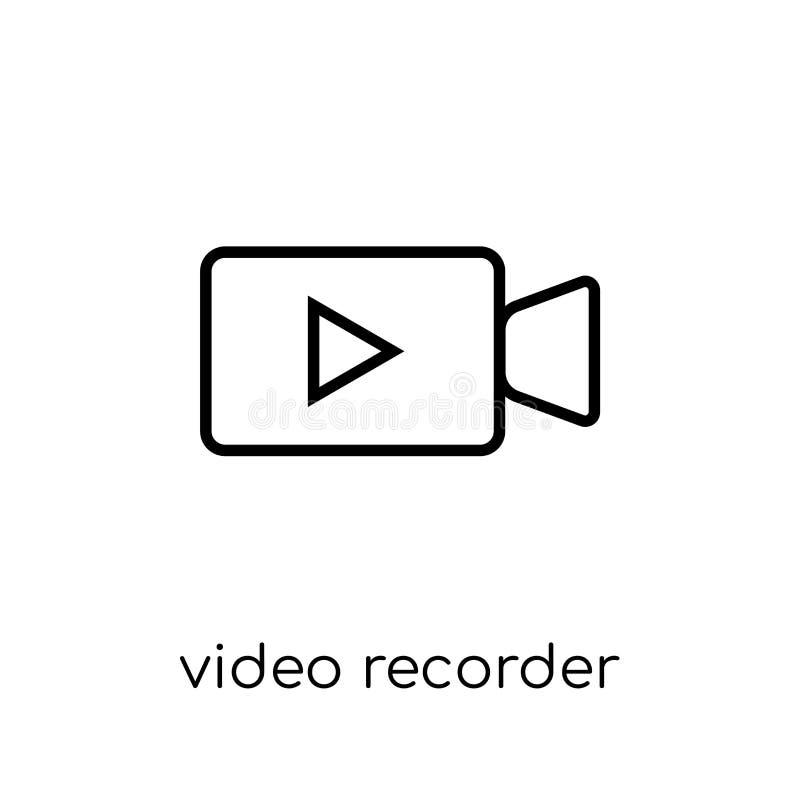 Ícone do gravador de vídeo da coleção dos dispositivos eletrónicos ilustração do vetor