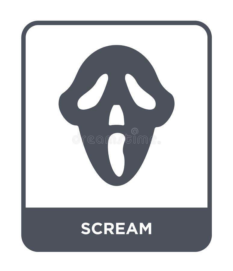 ícone do grito no estilo na moda do projeto ícone do grito isolado no fundo branco símbolo liso simples e moderno do ícone do vet ilustração do vetor