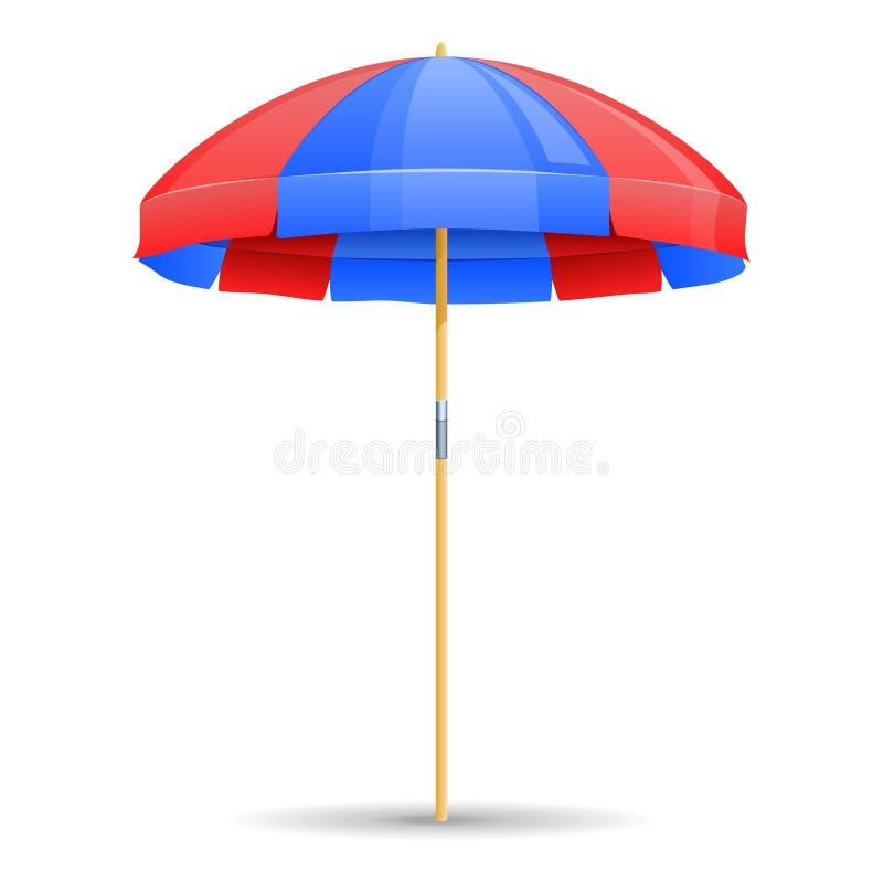 Ícone do guarda-chuva de praia ilustração do vetor