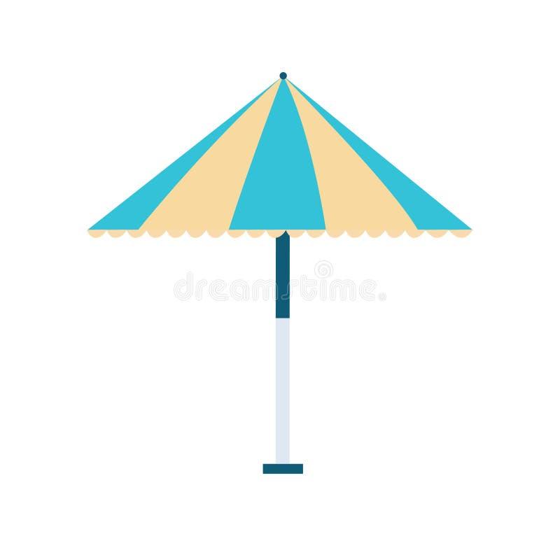 Ícone do guarda-chuva de praia no fundo branco para o gráfico e o design web, sinal simples moderno do vetor Conceito do Internet ilustração do vetor