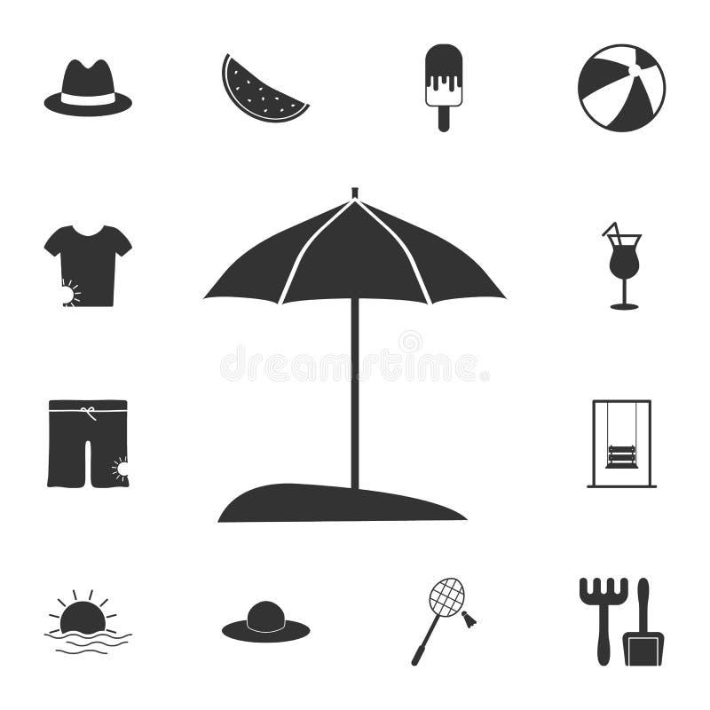 Ícone do guarda-chuva de Sun Grupo detalhado de ilustrações do verão Ícone superior do projeto gráfico da qualidade Um dos ícones ilustração royalty free