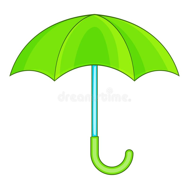 Ícone do guarda-chuva, estilo dos desenhos animados ilustração royalty free