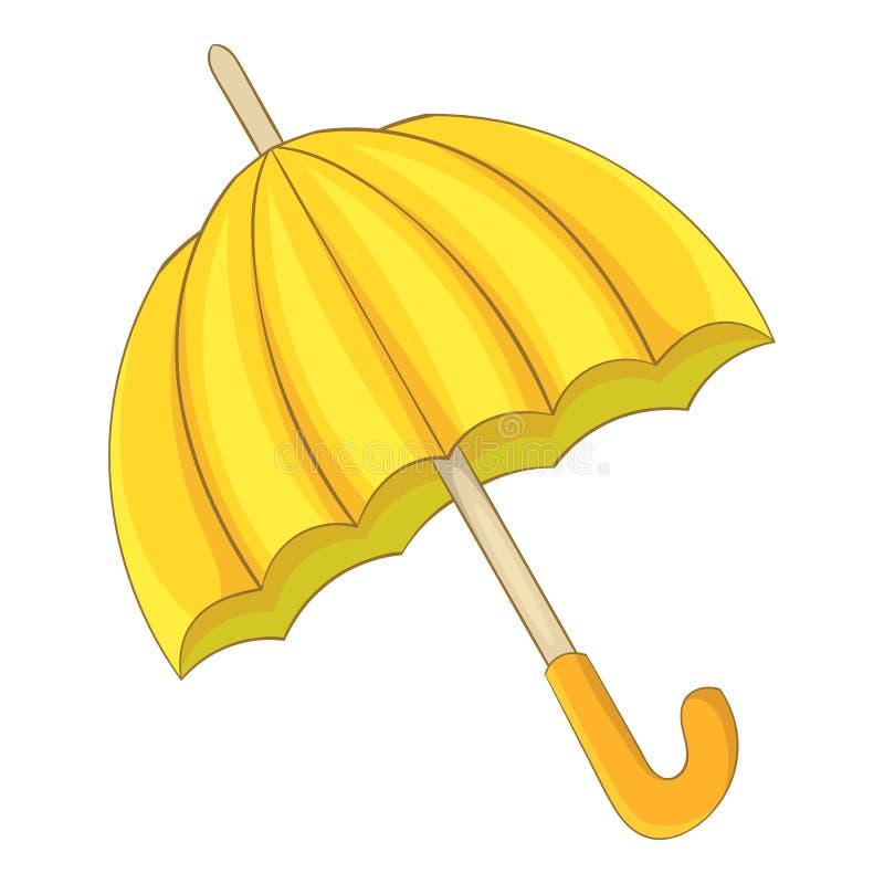 Ícone do guarda-chuva, estilo dos desenhos animados ilustração do vetor