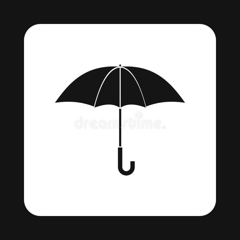 Ícone do guarda-chuva, estilo simples ilustração do vetor
