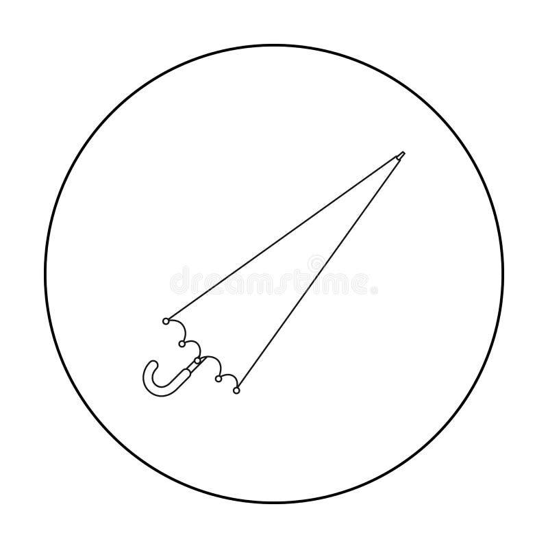 Ícone do guarda-chuva no estilo do esboço isolado no fundo branco Ilustração do vetor do estoque do símbolo de tempo ilustração do vetor