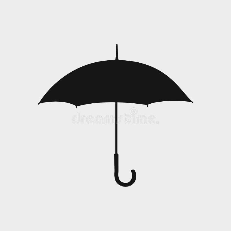 Ícone do guarda-chuva no fundo cinzento ilustração do vetor