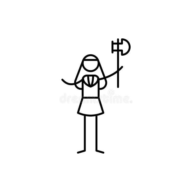 ícone do guerreiro Elemento do ícone humano dos passatempos para apps móveis do conceito e da Web A linha fina ícone do guerreiro ilustração royalty free