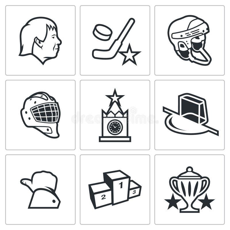 Ícone do hóquei do russo Ilustração do vetor ilustração stock