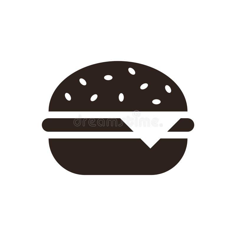 Ícone do Hamburger ilustração stock