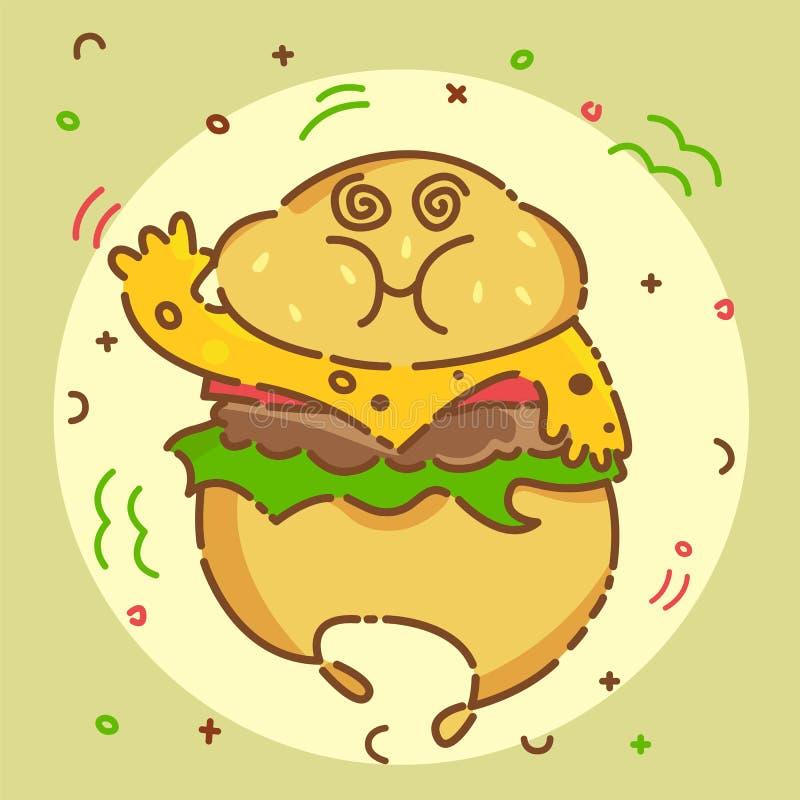 Ícone do Hamburger Ilustração lisa do vetor ilustração do vetor