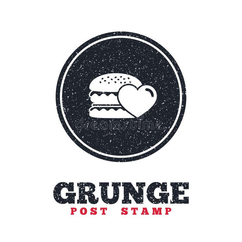 Ícone do Hamburger Símbolo do alimento do hamburguer ilustração royalty free