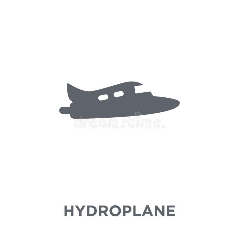 ícone do hidroavião da coleção do transporte ilustração do vetor