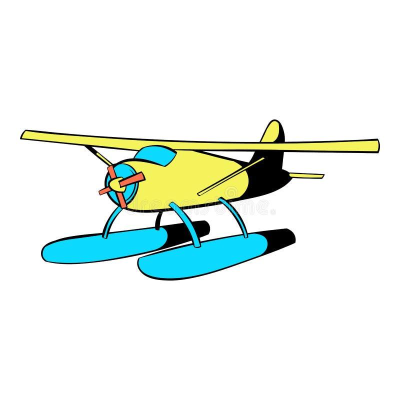 Ícone do hidroavião, desenhos animados do ícone ilustração do vetor