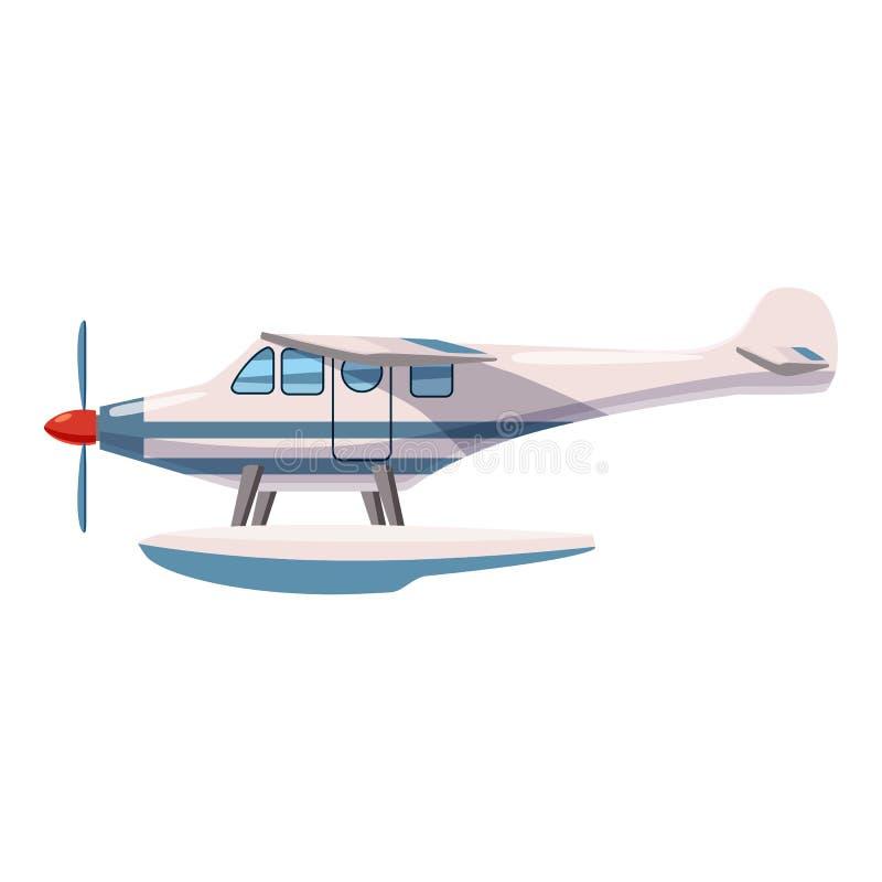 Ícone do hidroavião, estilo dos desenhos animados ilustração royalty free