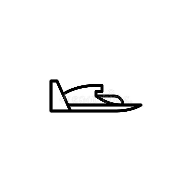Ícone do hidroavião linha ilustração do vetor do ícone do estilo ilustração do vetor