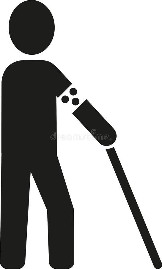 Ícone do homem cego ilustração royalty free