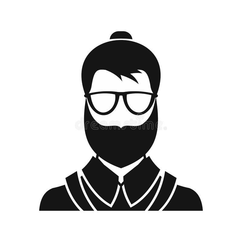 Ícone do homem de Hipsster, estilo simples ilustração royalty free